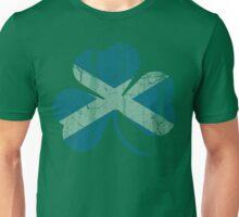 Vintage Irish Flag of Scotland Shamrock Unisex T-Shirt
