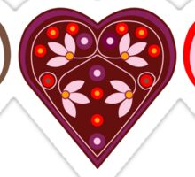 Folk Hearts Sticker