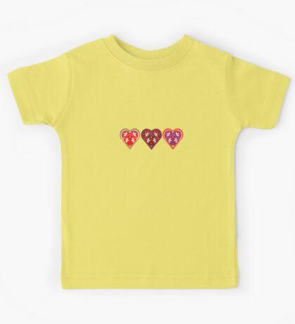 Folk Hearts Kids Tee