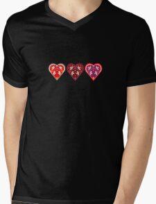 Folk Hearts Mens V-Neck T-Shirt
