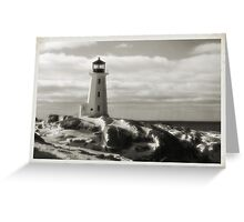 Lighthouse at Peggy's Cove Jan 22, 2016 Greeting Card