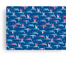 Flight - Blue Canvas Print