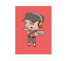 TF2 Chibi - Red Scout Art Print