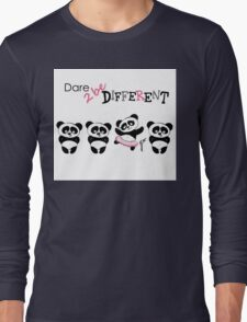 Be different, Cute Panda in various poses Long Sleeve T-Shirt