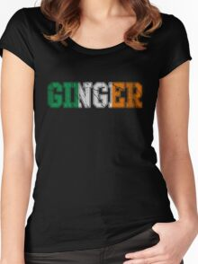 Distressed Irish Ginger St Patrick's Day Women's Fitted Scoop T-Shirt