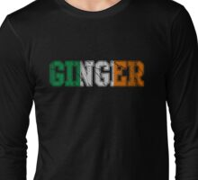 Distressed Irish Ginger St Patrick's Day Long Sleeve T-Shirt