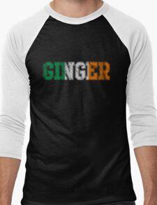 Distressed Irish Ginger St Patrick's Day Men's Baseball ¾ T-Shirt