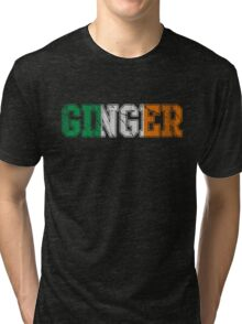 Distressed Irish Ginger St Patrick's Day Tri-blend T-Shirt