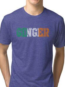 Distressed Irish Ginger St Patrick's Day Tri-blend T-Shirt
