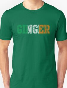 Distressed Irish Ginger St Patrick's Day Unisex T-Shirt