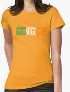 Distressed Irish Ginger St Patrick's Day Womens Fitted T-Shirt