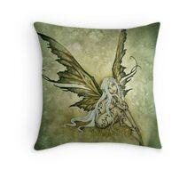 Green Sprite Throw Pillow