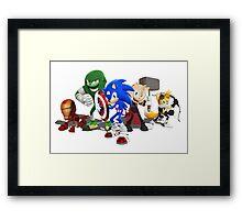 Sonic Avengers Framed Print