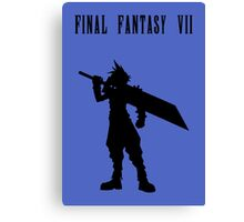Cloud Strife Silhouette Minimal (Black) - Final Fantasy VII Canvas Print