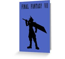 Cloud Strife Silhouette Minimal (Black) - Final Fantasy VII Greeting Card