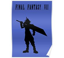 Cloud Strife Silhouette Minimal (Black) - Final Fantasy VII Poster