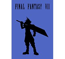 Cloud Strife Silhouette Minimal (Black) - Final Fantasy VII Photographic Print