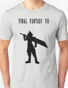 Cloud Strife Silhouette Minimal (Black) - Final Fantasy VII T-Shirt