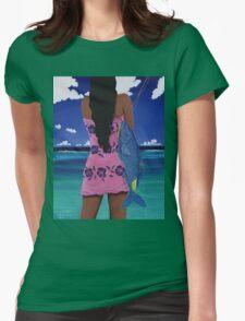 Lani's Moano Kea Womens Fitted T-Shirt