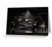 Composition of golden abstract geometry Greeting Card