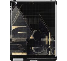 Composition of golden abstract geometry iPad Case/Skin