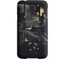 Composition of golden abstract geometry #2 Samsung Galaxy Case/Skin