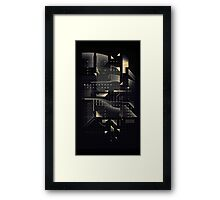 Composition of golden abstract geometry #2 Framed Print