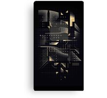 Composition of golden abstract geometry #2 Canvas Print