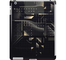 Composition of golden abstract geometry #2 iPad Case/Skin