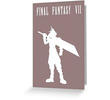Cloud Strife Silhouette Minimal (White) - Final Fantasy VII Greeting Card