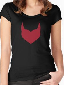 Horny Devil - love, heart, valentine, fun, cute, funny, erotic, sexy Women's Fitted Scoop T-Shirt
