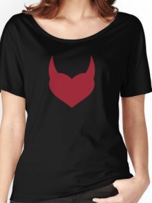 Horny Devil - love, heart, valentine, fun, cute, funny, erotic, sexy Women's Relaxed Fit T-Shirt