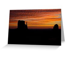 Mittens At Sunrise Greeting Card