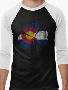 Vintage Irish Flag of Colorado Shamrock Men's Baseball ¾ T-Shirt