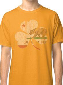 Vintage Irish Flag of California Shamrock Classic T-Shirt