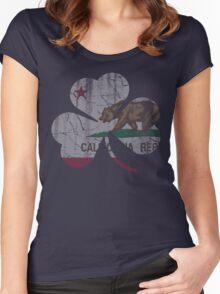 Vintage Irish Flag of California Shamrock Women's Fitted Scoop T-Shirt