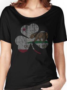Vintage Irish Flag of California Shamrock Women's Relaxed Fit T-Shirt