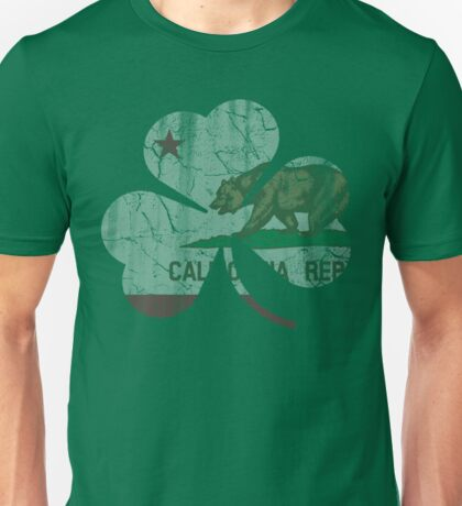 Vintage Irish Flag of California Shamrock Unisex T-Shirt