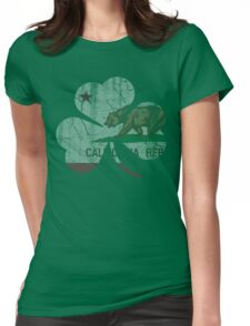 Vintage Irish Flag of California Shamrock Womens Fitted T-Shirt