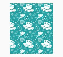 Coffee Pattern Turquoise Teal Classic T-Shirt