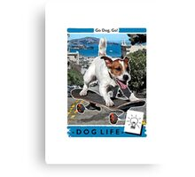 Jackrussell Skater Dog Canvas Print