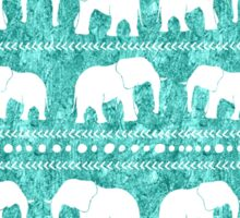 Elephant tribal turquoise water color Sticker