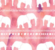 Elephant tribal pink water color Sticker