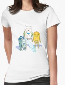 Star Wars Adventure Time Womens Fitted T-Shirt