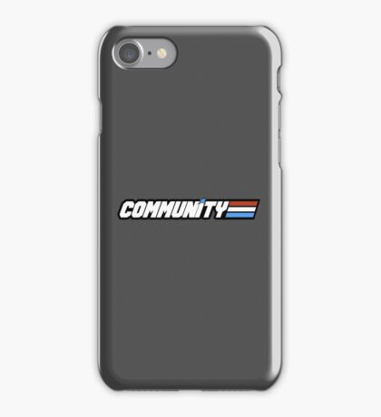 Community G.I Joe iPhone Case/Skin