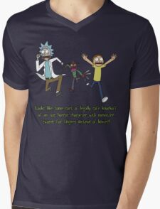 Rick and Morty – Looks Like an '80s Knockoff Mens V-Neck T-Shirt