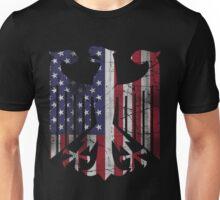 Vintage German American Flag Eagle Unisex T-Shirt