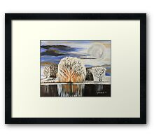 White Willow Framed Print