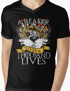Game of Thrones - A Reader Lives A Thousand Lives Mens V-Neck T-Shirt