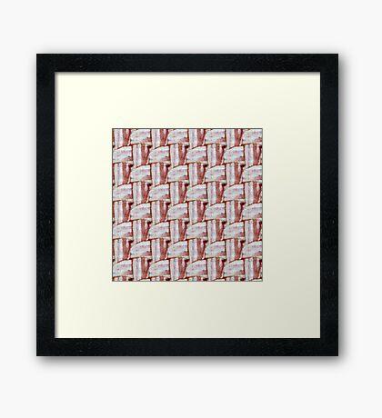 Bacon Weave Framed Print